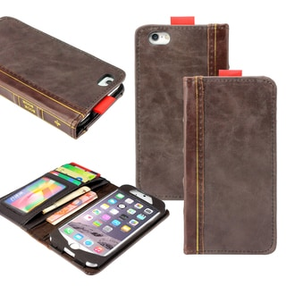 """Gearonic Flip Leather Bible Wallet Case Cover for Apple iPhone 6 4.7"""""""