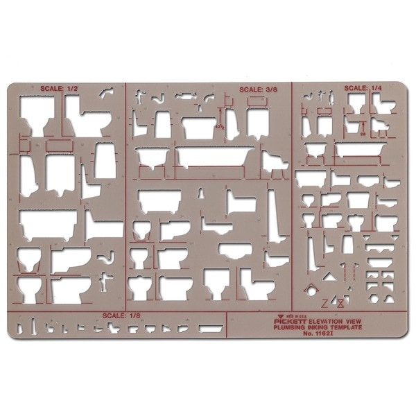 Pickett Plumbing Drafting Templates