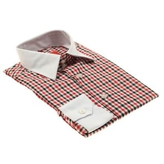 Elie Balleh Boys Slim Fit Plaid Check Button-down Shirt
