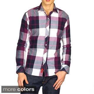 Elie Balleh Boys Slim Fit Giant Check Dress Shirt