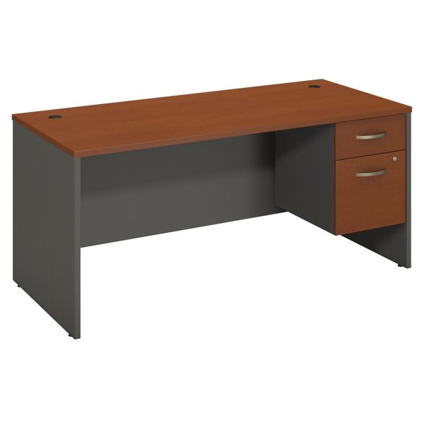 BBF Series C Collection 66 x 30 Desk Shell with 3/4 Pedestal