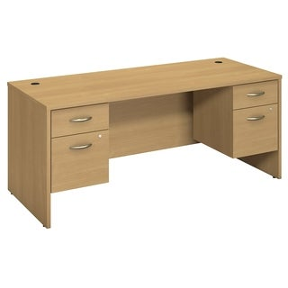 BBF Series C 72 x 30 Desk Shell with 2 Pedestals