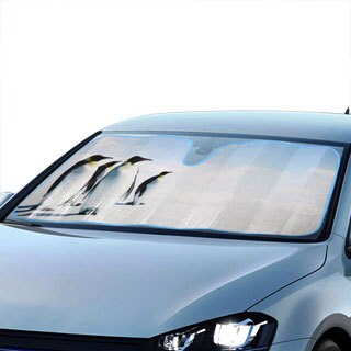 BDK Original Penguin Sun Shade for Car Universal Fit