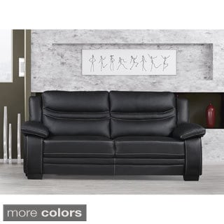 Winnie Bonded Leather Modern Sofa
