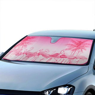 BDK Original Flamingo Sun Shade for Car Universal Fit