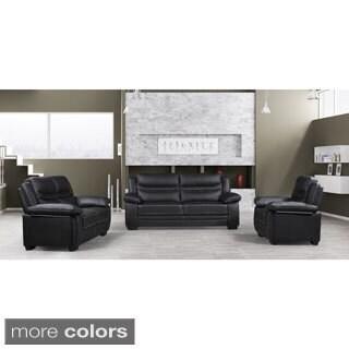 Winnie Modern Bonded Leather 3-piece Furniture Set
