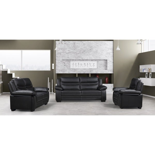 Winnie Modern Bonded Leather 3-piece Furniture Set
