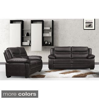 Winnie Bonded Leather Modern Sofa and Loveseat
