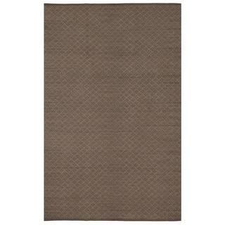 Karma Brown Geometric Area Rug (8' x 10')