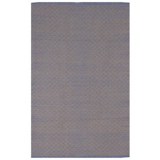 Karma Blue and Almond Geometric Area Rug (3' x 5')