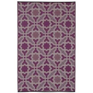 Seville Multicolor Purple Area Rug (6' x 9')