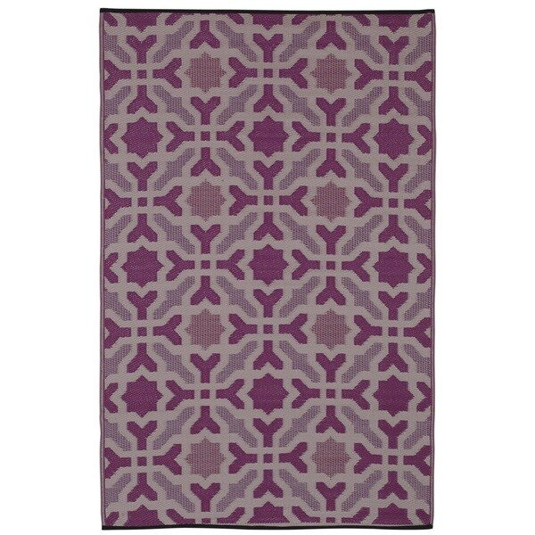 Seville Multicolor Purple Area Rug (6' x 9')