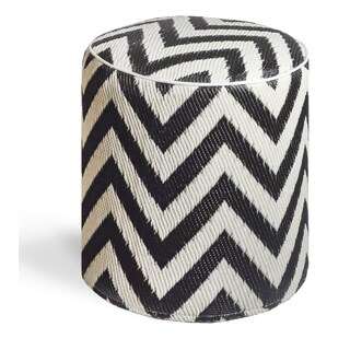 Laguna Black and White Pouf