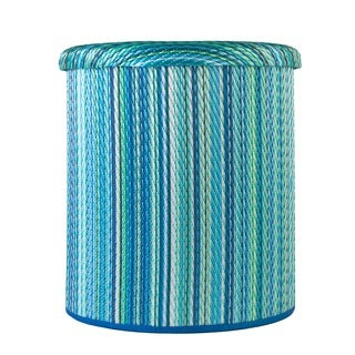 Cancun Turquoise and Moss Green Pouf