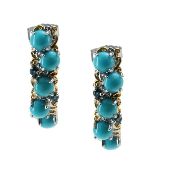 Michael Valitutti Sleeping Beauty Turquoise Earrings