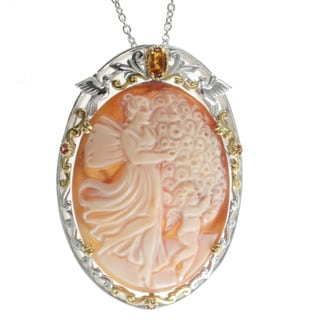 Michael Valitutti Carved Cameo Necklace