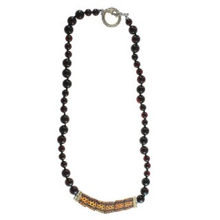 Michael Valitutti Beaded Amber Necklace