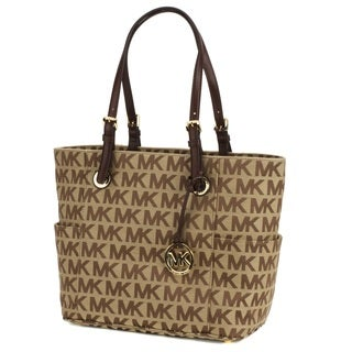 Michael Kors Mocha Logo East/West Signature Tote Bag