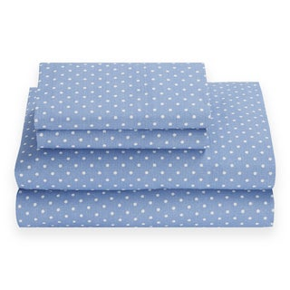 Tommy Hilfiger Chambray Riviera Blue Dot Sheet Set