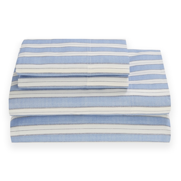 Tommy Hilfiger Waterline Sheet Set Rivera Blue