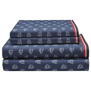Tommy Hilfiger Navy Falmouth Sheet Set
