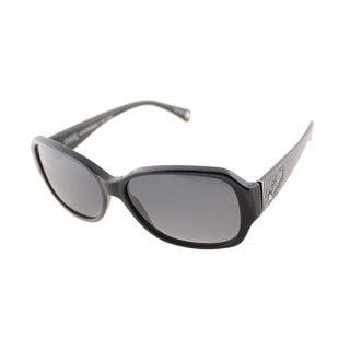 Coach Women's HC 8011BM Black Polarized Sunglasses