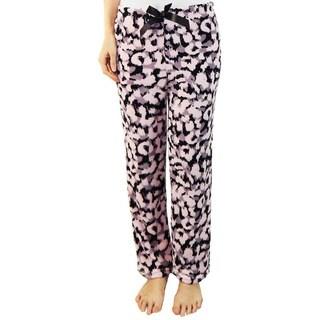 Vecceli Italy Women's Leopard Print Pajama Pants