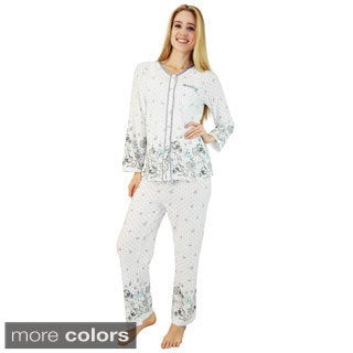 Vecceli Italy Women's Floral Pajama Set