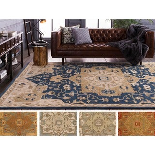 Hand-tufted Misty Traditional Wool Rug (10' x 14')