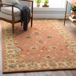 Hand-tufted Nia Traditional Wool Rug (8' x 10' Oval)