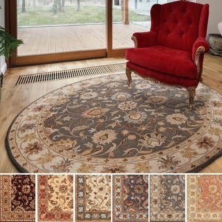 Hand-tufted Nia Traditional Wool Rug (9'9 Round)