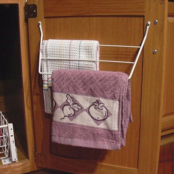 Rev-A-Shelf White 3-rack Dish Towel Holder