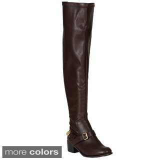 Breckelle's Women's 'Capital-16' Over-the-Knee Riding Boots