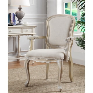 Ivory Finish Accent Chair
