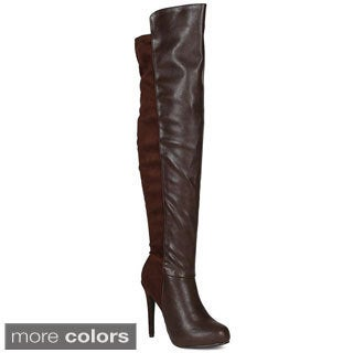 Breckelle's Women's 'Pamela-13' 50/50 Over-the-Knee Stiletto Boots
