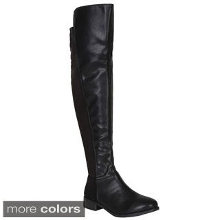 Breckelle's Women's 'Kansas-14W' Over-the-Knee 50/50 Boots
