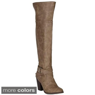 Breckelle's Women's 'Heather-37' Over-the-Knee Boots