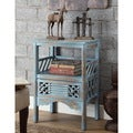 Rustic Blue 1-drawer Accent Table
