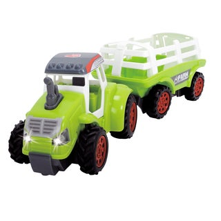 Dickie Toys Lime Green Farm Tractor