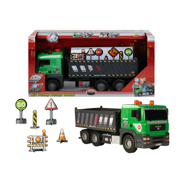 Dickie Toys Pump Action Dump Truck with Accessories