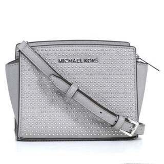 MICHAEL Michael Kors Micro Stud Selma Saffiano Leather Mini Messenger