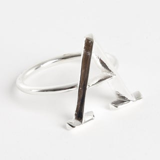Initial Napkin Ring [A] - (Set of 4)