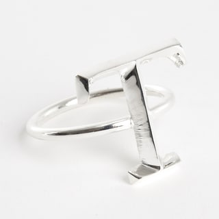 Initial Napkin Ring [T] - (Set of 4)