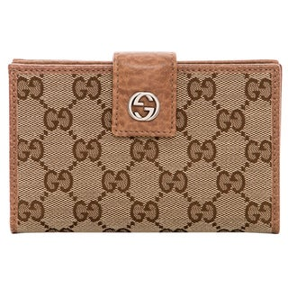 Gucci Sukey Guccissima Beige Leather Zip Around Wallet