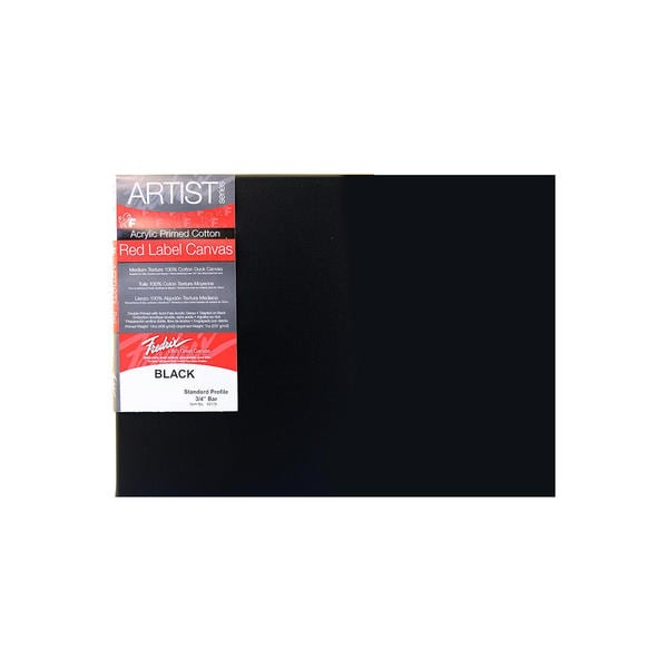 Fredrix Red Label Black Stretched Cotton Canvas