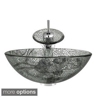 MR Direct 624 Chrome Bathroom Vessel Sink and Faucet