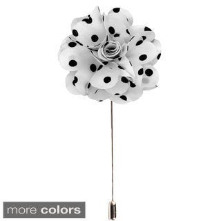 Men's Handmade Polka Dots Lapel Flower Pin