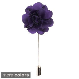 Men's Suit Handmade Solid Color Lapel Flower Pin