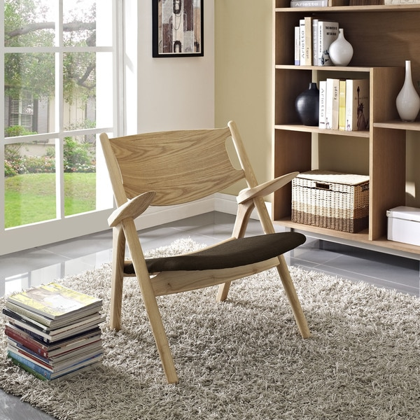 Modway Concise Solid Wood Lounge Chair