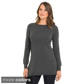 Premise Women's Cashmere Contrast Back Stripe Tunic